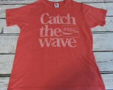 Vintage Style 'Catch the Wave' Coke Coca-Cola T-Shirt Red Mens Size XL Junk Food