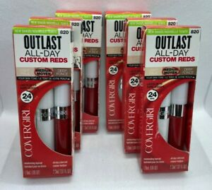 NEW (6-PK) Covergirl Outlast All-Day Custom Reds 820 YOU'RE ON FIRE Lip Color