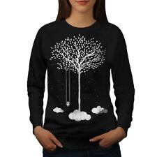 Wellcoda Tree Cloud Space Nature Womens Sweatshirt, Dream Casual Pullover Jumper