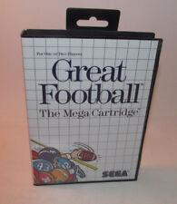 Great Football (Sega Master, 1987) System Complete CIB SMS Good Shape