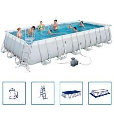 Bestway Pool Set 732x366x132cm Komplettset Schwimmbad Schwimmbecken Pool