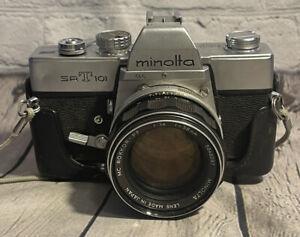 Minolta SRT-101 with Minolta MC Rokkor-X PF 58mm f1.4 vintage japan With Case