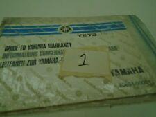 GUIDE TO YAMAHA WARRANTY BOOK YE73 (ATT2) 1