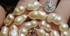 Huge 10-16mm Rare White Baroque Freshwater Cultured Pearl Necklace 18""