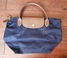 Authentic Longchamp Le Pliage Type S Purple Bag Purse - Nylon Bag Leather