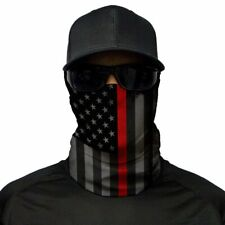 5 Pack SA Company Blackout Thin Red Line American Face Shields Mask Neck Gaiters