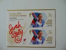 """""""Paralympic Games"""" Gold Medalist Sarah Storey Signed Event Ticket Mueller COA"""
