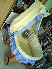 Stubenwagen Babybett inkl. Betthimmel creme hellblau unbenutzt wie NEU