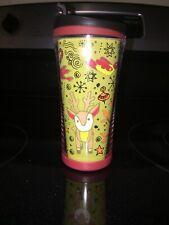 2007 Starbucks Coffee Travel Holiday Small Tumbler 8 oz Reindeer Pear Tree Mug