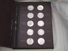 More details for rare set of 60 sterling silver genius of michelangelo medals