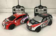 TWIN PACK RALLY CARS RADIO REMOTE CONTROL CAR 12 KM/H FAST SPEED BOXED UK STOCK