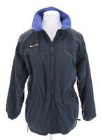 Columbia Womens Cinch Waist Fleece Lined Zip Up Jacket Blue Gray Sz S