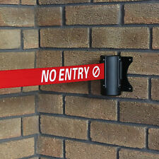 No Entry Red Retractable Security Belt/Barrier Ribbon Door Safety Warning Sign