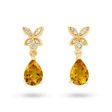 Pendientes de joyería amarillo oro amarillo de 18 quilates