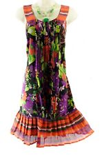 20 2X SEXY Womens GORGEOUS FLORAL PLEATED BABYDOLL DRESS Shift Summer PLUS SIZE