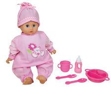 Puppe Bella Babypuppe 40 cm mit 30 Sounds und Zubehör rosa NEU 229245