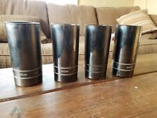 Set of 4 Vintage SNAP-ON TOOLS 3/8 SFS121 Chrome Looking Drinking Glasses