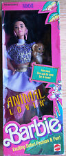 Vintage Animal Lovin Barbie Nikki Doll NRFB Lion 1352 Mattel Safari 1988 MInt