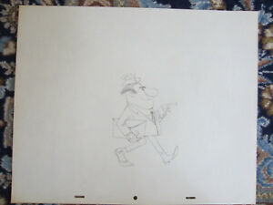 Disney Scrooge McDuck and Money authentic production animation pencil drawing 19