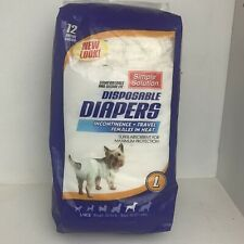 Simple Solution Disposable Dog Diapers for Female Dogs Super Absorbent L 35-55lb