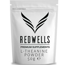 PURE L-THEANINE POWDER 50g • HIGHEST QUALITY • FAST DESPATCH • FREE SCOOP