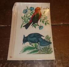 Retro Bathroom, Bedroom Decor, Duro Decals 1950's Birds 404A