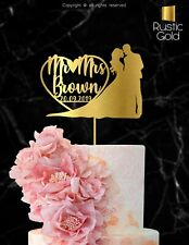 Customized Wedding Cake Topper Mr Mrs Personalized Marriage Date Bride Groom 113
