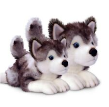 "*BNWT* SIBERIAN HUSKY ""STORM"" PUPPY DOG SOFT PLUSH ANIMAL TOYS 35cm/13.5inch"