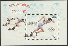 LAOS Bloc N°93** BF jeux olympiques COREE SEOUL 1988, 1987, olympic games  MNH