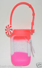 BATH & BODY WORKS RED PEPPERMINT SWIRL BODY LOTION TRAVEL HOLDER SLEEVE CARRIER