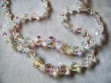 18 AND 20 INCH/LARGE AUSTRIAN CRYSTAL /GRADUATED/FACETED/NECKLACE