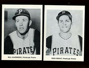 1960's Jay Publishing Photo Lot All Pittsburgh Pirates 7 Different EX/EXMT