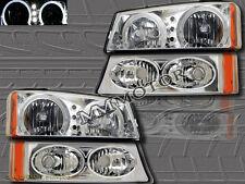 03-06 CHEVY SILVERADO / AVALANCHE HALO HEADLIGHTS W/ LED + PARK SIGNAL LIGHTS