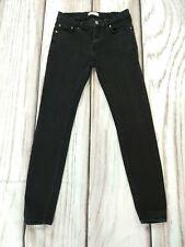 Zara Premium Denim Black Skinny Stretch Jeans Size UK 8 W26