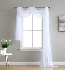 Voile Scarves  ~ Net Curtains Swags & Scarf Voile Panel -  Huge Range Of Colours