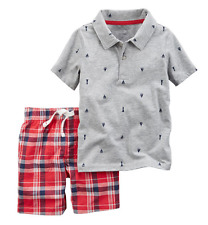 Carter's 2-Piece Polo & Short Set 12M Red