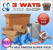 55 inch TV Cardboard Removal Box - SUPER MULTIMEDIA KIT - Removal Digital Tv Kit