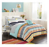 New Full Size Comforter Set Stripe Bed in a Bag Bedspread Sheets Bedding Shams