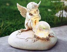 Solarleuchte Engel auf Herz mit Kugel NEU LED Solarlampe