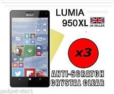 3x Hq Cristal Clair Protecteur d'écran Cover Film Garde pour Microsoft Lumia 950 XL