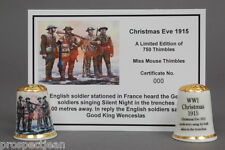 WW1 Christmas Eve 1915 The Solders Sang Carols Ltd Edition  Thimble + Cert B/145