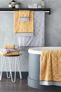 Bianca Luxury Cassia 100% Cotton 4pc Towel Bale Set or Bath Sheet Ochre Or Grey