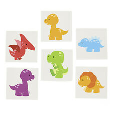 36 LITTLE DINO Dinosaur TATTOOS Party Favors T Rex Paleontologists Dino Dig