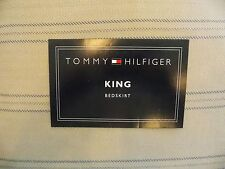 NEW TOMMY HILFIGER LYNDHURST KHAKI BLUE~KING  BED SKIRT