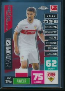 2020-21 Topps Chrome Match Attax Bundesliga 132 Marcin Kaminski - VfB Stuttgart