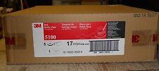 Floor Buffingbuffer Pads 17 Red 5100 Box Of 5 175 600 Rpms 3m Scotch Brite