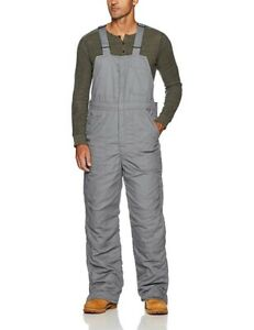 Bulwark Men's Deluxe Insulated Bib Overalls Flame Resistant, Grey, Large Short