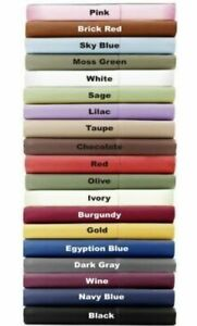1000 Thread Count Egyptian Cotton 3 PC Fitted Sheet Set US Size & All Colors