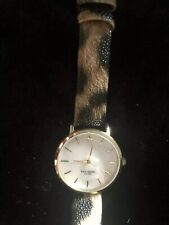 Kate Spade Mother Of Pearl Face Metro Watch EUC Leopard Strap Classic Kate! Rare
