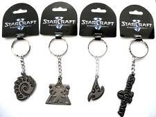 4 Officially Licensed Blizzard StarCraft II 2 ZERG TERRAN PROTOSS Key Chain Ring